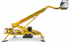 Tracked mobile telescopic boom lifts